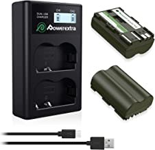 Powerextra 2 Pack Rechargeable Replacement Canon BP-511, BP-511A Battery with Smart LCD Display Dual USB Charger for Canon EOS 5D 10D 20D 20Da 30D 40D 50D 300D D30 D60 and More Camera
