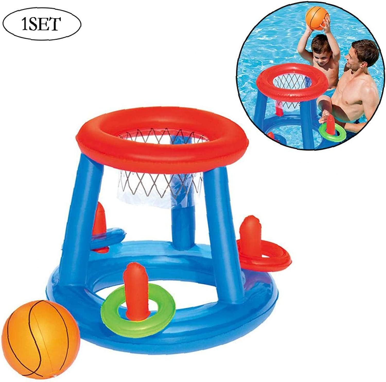 Inflatable Pool Beach Ball Float Swimming Toys Air Mattress for Kid