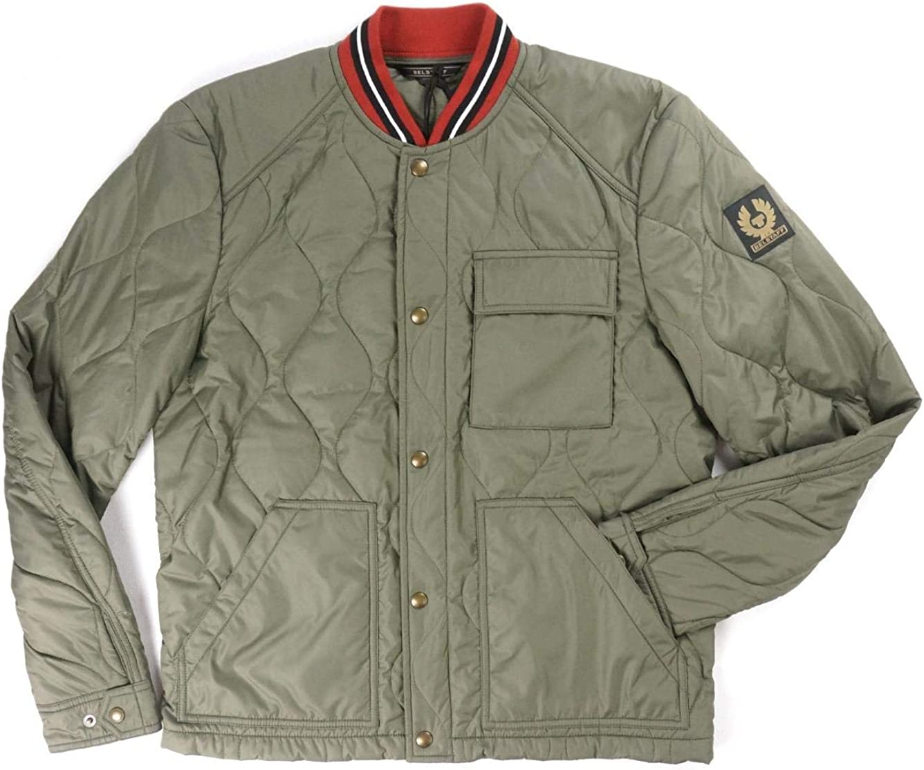 Belstaff New $595 Slate Green Si Haverford Albuquerque Mall Jacket Bomber Quilted Large special price