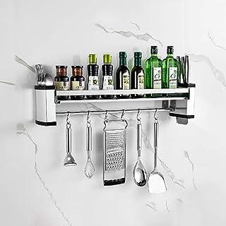 YJKDM Pendentif de Stockage d'épices Mural, étagère de Cuisine en Acier Inoxydable 304, Organisateur de Fournitures de Cui...