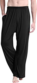 Dolamen Men's Pyjamas Bottoms Modal Cotton, 2018 Long Nightwear Underwear Casual Trousers Pants Elastic Waistband Pockets ...