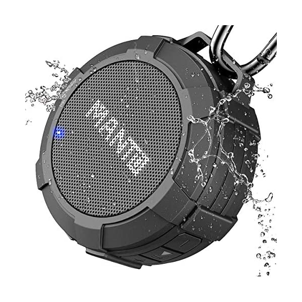 Portable Wireless Mini Waterproof Stereo Sound System for Shower, Outdoor Hiking, Camping, Cycling - Grey 3