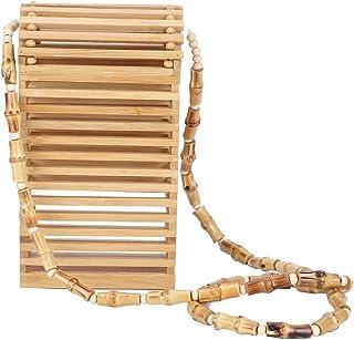 Zerodis Handgemachte gewebte Umhängetasche Mode Handgemachte gewebte Bambus-Tasche Mini Summer Bamboo Weaving Umhängetasch...