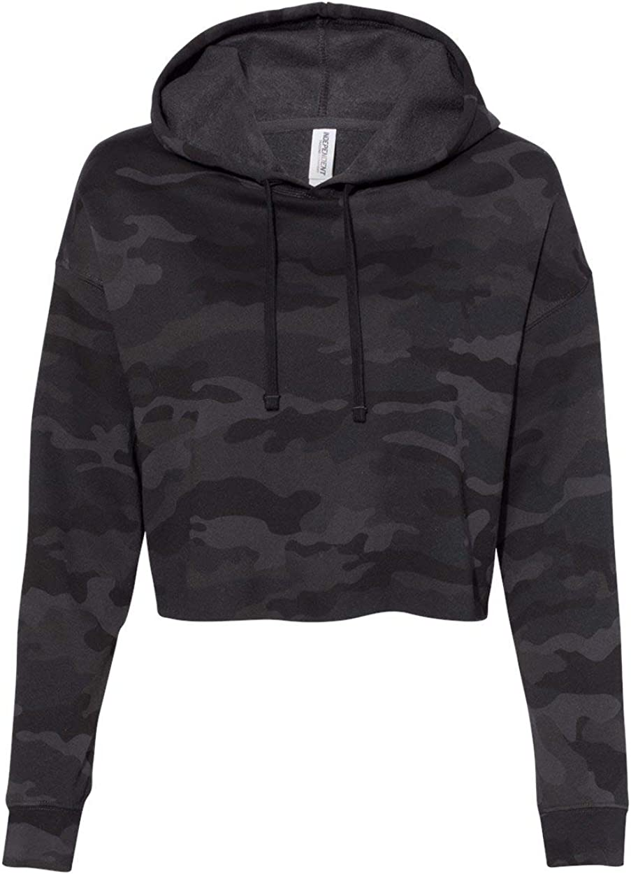 Independent Trading Co. Womens Lightweight Cropped Hooded Sweatshirt