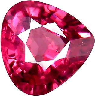 1.10 ct AAA+ Grade Pear Shape (6 x 6 mm) Unheated Pink Malaya Garnet Natural Loose Gemstone