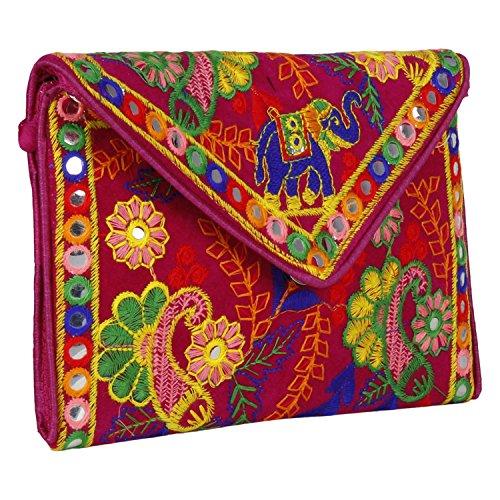 Handgefertigte Handtasche im Ethno-Stil, bestickt