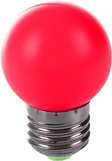 TOOGOO E27 LED Luz rojo calido Bombilla lampara de plastico (0,5 W potencia, Rojo)