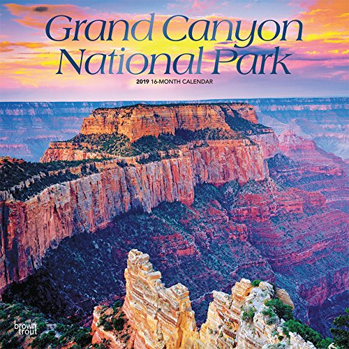 Grand Canyon National Park 2019 - 18-Monatskalender mit freier TravelDays-App: Original BrownTrout-Kalender