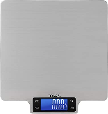 Taylor Precision Products Stainless Steel 22lb Ultra-Precise Digital Household Kitchen Scale, 22 Pounds