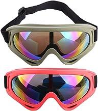 Foxom 2 Piezas Gafas de Protección Gafas de Seguridad Gafas Para Nerf Juego de Protección Para los Ojos, Ejército + Rojo