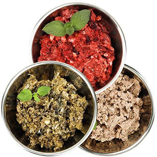 Barf-Snack gesundes Frostfutter - Sparpaket Rind-Mix-Klassik mit Blättermagen 28kg Barf-Frischfleisch für Hunde & Katzen