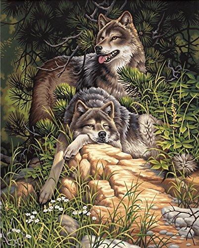 Dimensions Peinture par Numéro Kit 16 « X 20 »-Wild & Free Loups