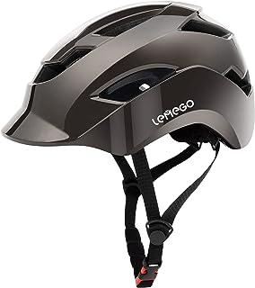 LEMEGO Casco Bicicleta Ciclismo para Adulto - Cascos Bici Ajustable Montaña con Certificado CE Luz Trasera Seguro y Viser...