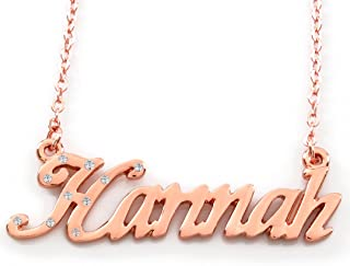 Zacria Name Necklace Hannah - 18K Rose Gold Plated