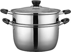 Koken Pot Steamer Pot, Voedsel Stoomboot Roestvrij Stalen Soep Pot Pan Stomende Kookgerei Boiler Pot Steelpan, Met Deksel,...