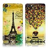 Wiko Fever 4G 2x SET PARIS LA TOUR + FLIEGENDER ELEFANT Silikon Schutz-Hülle weiche Tasche Cover Case Bumper Etui Flip smartphone handy backcover thematys®