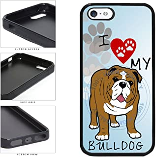 BleuReign(TM) I Love My Bulldog Dog Lover TPU RUBBER SILICONE Phone Case Back Cover For Apple iPhone 5 5s and iPhone SE