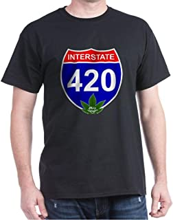 CafePress Interstate 420 Shirt, Marijuana Cotton T-Shirt