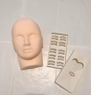 Rubber Practice mannequin head Training Head Manikin Cosmetology Mannequin Doll Face Head Eyelashes makeup Mannequin Head...