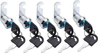 Jieddey Brievenbusslot, 5 stuks, 16 mm, veiligheidsslot met sleutels, cilinderslot, kastslot voor kast, ladenkast, mailbox...