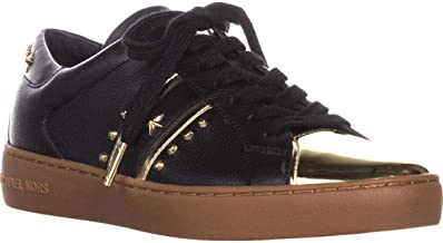 Michael Michael Kors Womens Frankie Leather Reflective Fashion Sneakers