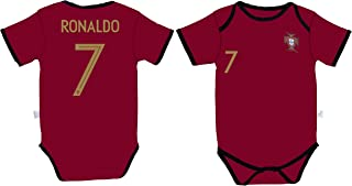 Cristiano Ronaldo #7 Portugal Home Soccer Jersey Baby Infant and Toddler Onesie Romper Premium Quality