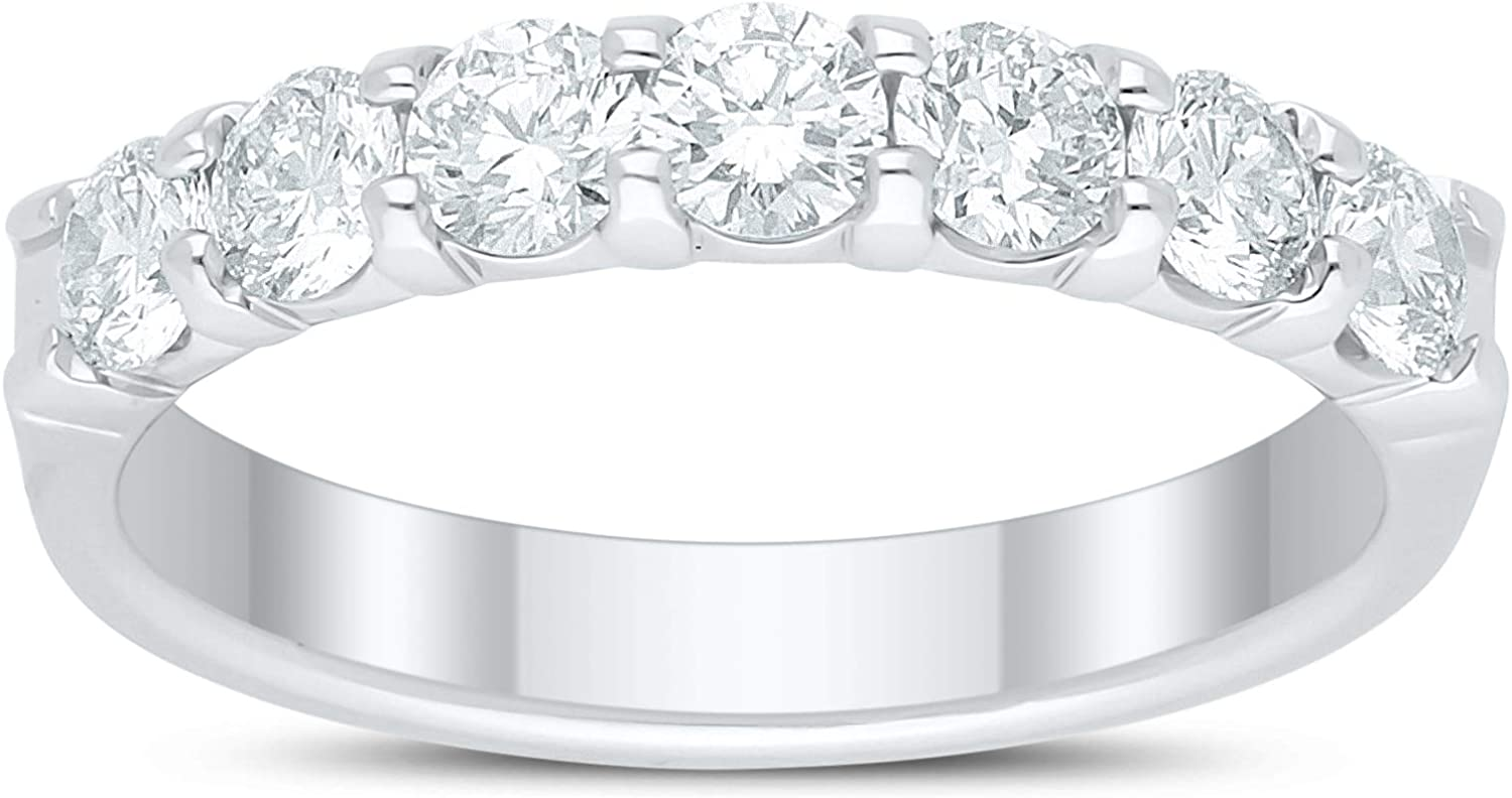 MADE Now free shipping FOR US 1.00 Ct Round Lab-Grown 14K Diamond Stone in Band Max 51% OFF 7