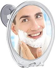 آینه دوش بدون مهار با تیغ هوک برای اصلاح کامل بدون مه ، چرخش 360 درجه برای مشاهده آینه های آسان ، جام مکش قفل قدرت قوی سقوط نخواهد کرد ، ایده آل برای خانه و مسافرت است.