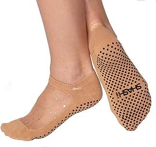 Shashi Star Glitter Mesh Non-Slip Sock, Ergonomic, Comfort Socks