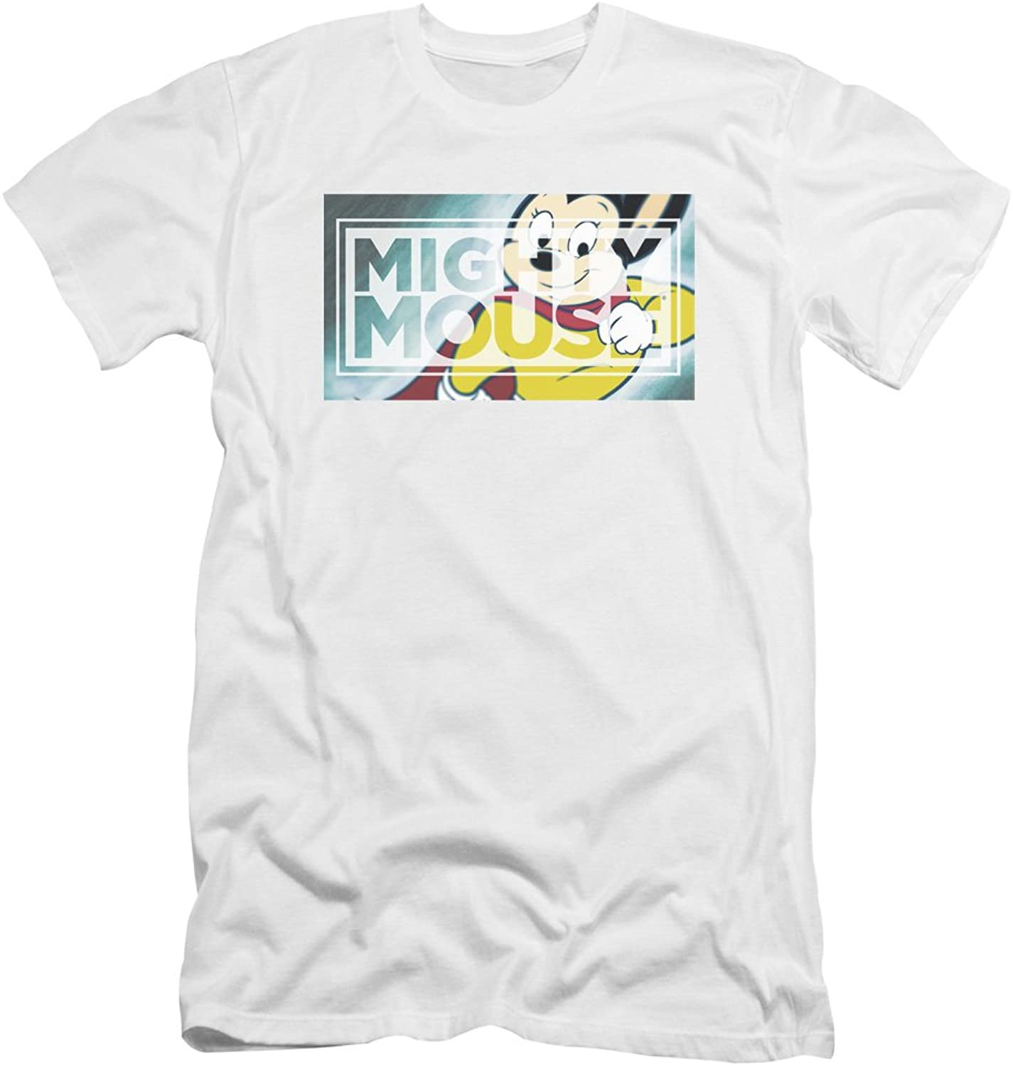 Mighty Mouse  Mens Mighty Rectangle Premium Slim Fit TShirt