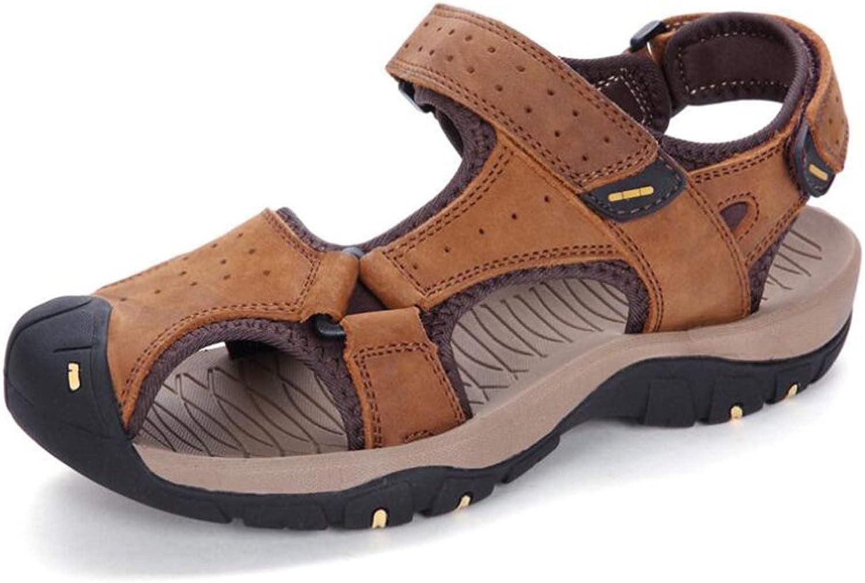 Men Leisure & Outdoor Beach shoes Summer Casual Sandals Men's Breathable Waterproof Sandals (color   B, Size   38)