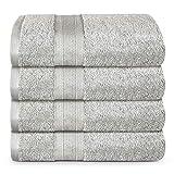 TRIDENT Juego Toallas de baño - Soft & Plush - 100% algodón, 500 gsm, 4 Pieza...