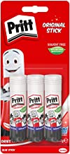 Pritt Stick Original Multi Pack / Childproof and washable glue stick for paper, cardboard and felt / 3 x 22g
