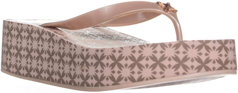 BCBGeneration Giselle Wedge Platform Slip On Sandals, pink gold