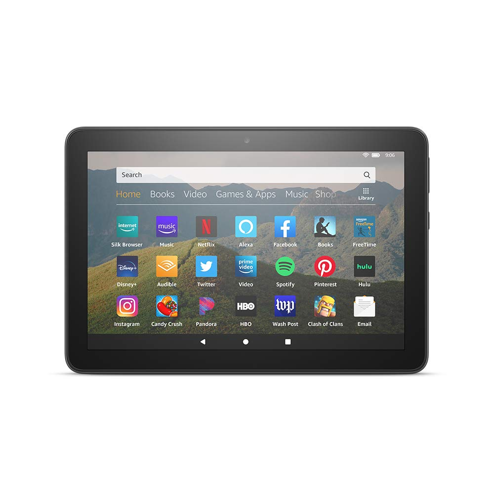 All-new Fire HD 8 tablet, 8 HD display, 32 GB, designed for portable entertainment, Black