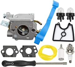 Mckin C1Q-W37 545081811 Carburetor + 545112101 Air Filter fits Husqvarna 125B 125BX 125BVX 28CC 170 MPH Leaf Blower 590460102 with Adjustment Tool Repower Kit