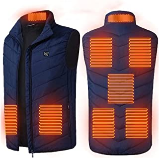 JFTMY 8 Places Heated Vest Men Women Usb Heated Jacket Heating Vest Thermal Clothing Hunting Vest Winter Heating Jacket Bl...