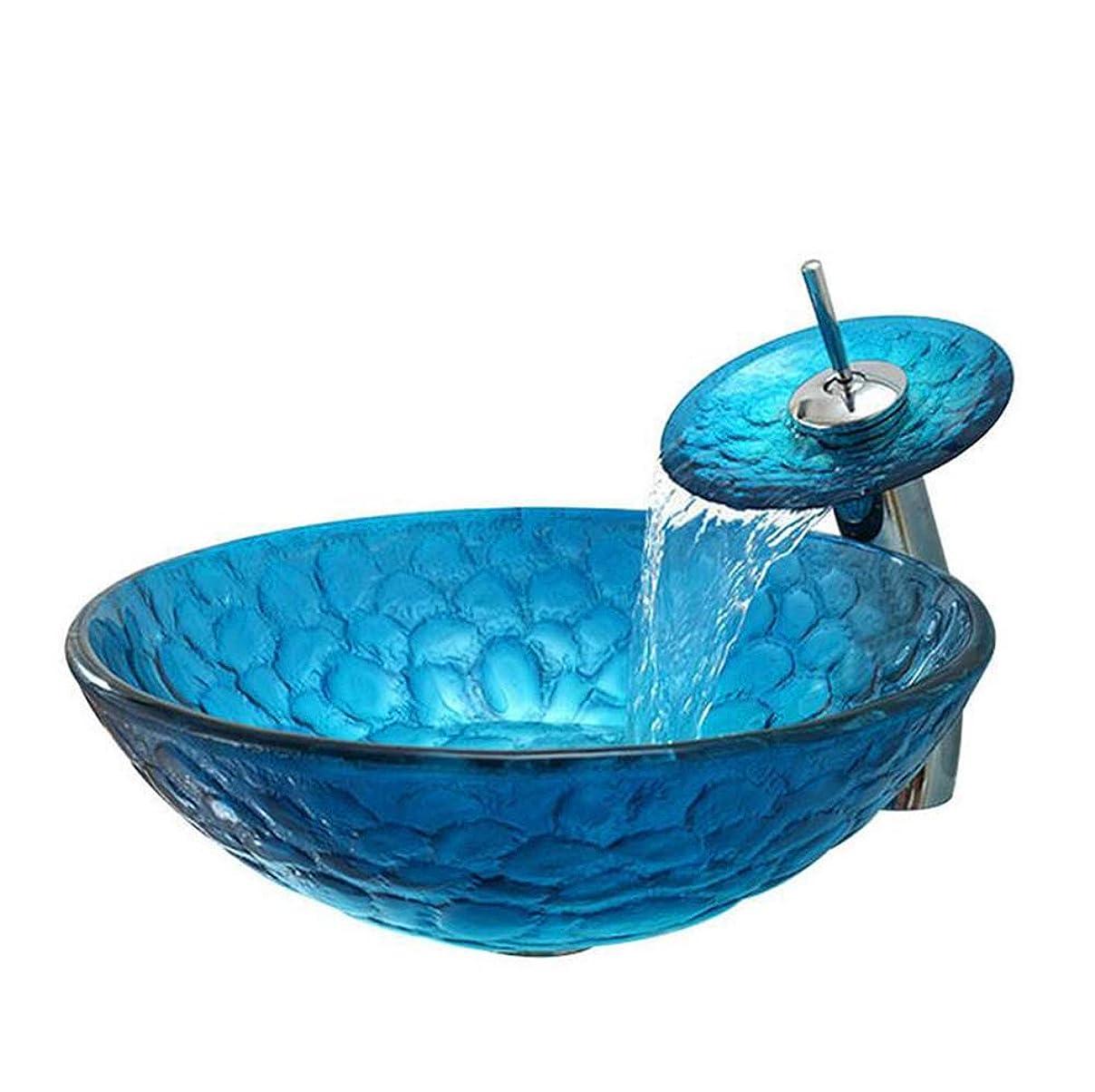 はしご工場八強化ガラス洗面バスルームラウンド洗面台