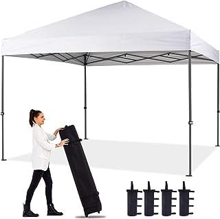 ABCCANOPY 12'x12' Pop up Canopy Instant Outdoor Tent Instant Shelter, Bonus Wheel Bag, White