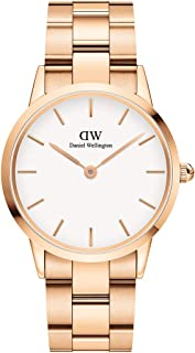 Daniel Wellington Japanese Quartz Watch with Stainless Steel Strap, Rose Gold, 18 (Model: DW00100209)
