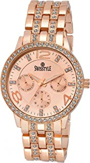 SWISSTYLE Analogue Rose Gold Dial Women's Watch (Ss-Lr250-Cpr-Cpr)