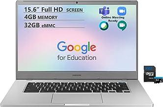 """Samsung Chromebook, 15.6"""" Full HD Screen, Intel Celeron N4000 Processor, 4GB DDR4 Memory, 32GB eMMC, Webcam, WiFi, Bluetoo..."""