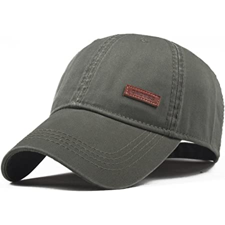 CACUSS Men's Baseball Cap Classic Cotton Dad Hat Golf Cap with Adjustable Buckle Closure Trucker Hat