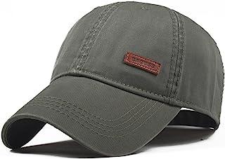 CACUSS Men s Cotton Classic Baseball Cap Adjustable Buckle Closure Dad Hat  Sports Golf Cap 1d8ef60f60ab