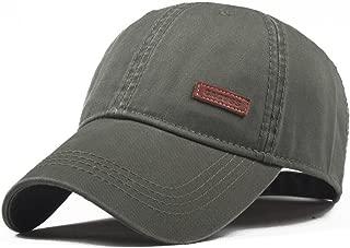 Men's Cotton Classic Baseball Cap Adjustable Buckle Closure Dad Hat Sports Golf Cap