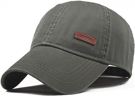 5519a70f2dd CACUSS Men s Cotton Classic Baseball Cap Adjustable Buckle Closure Dad Hat  Sports Golf Cap