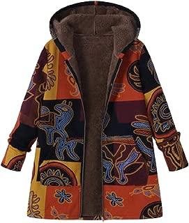 Energy Womens Thick Floral Hoodie Plus Velvet Over Sized Zipper Coat Jacket