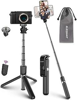 Selfiepinne stativ, ELEGIANT Selfiepinne 4 i 1 med bluetooth fjärrkontroll aluminium selfie stick, utbyggbar för Gopro kam...