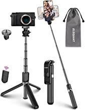 Selfie Stick Tripod, ELEGIANT Lightweight Aluminum All in One Extendable Selfie Stick Bluetooth with Remote Compatible wit...
