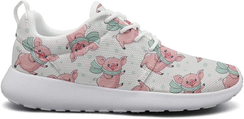 Gjsonmv Cute Cartoon Pigs mesh Lightweight shoes for Women Summer Sports Trail Running Sneakers shoes